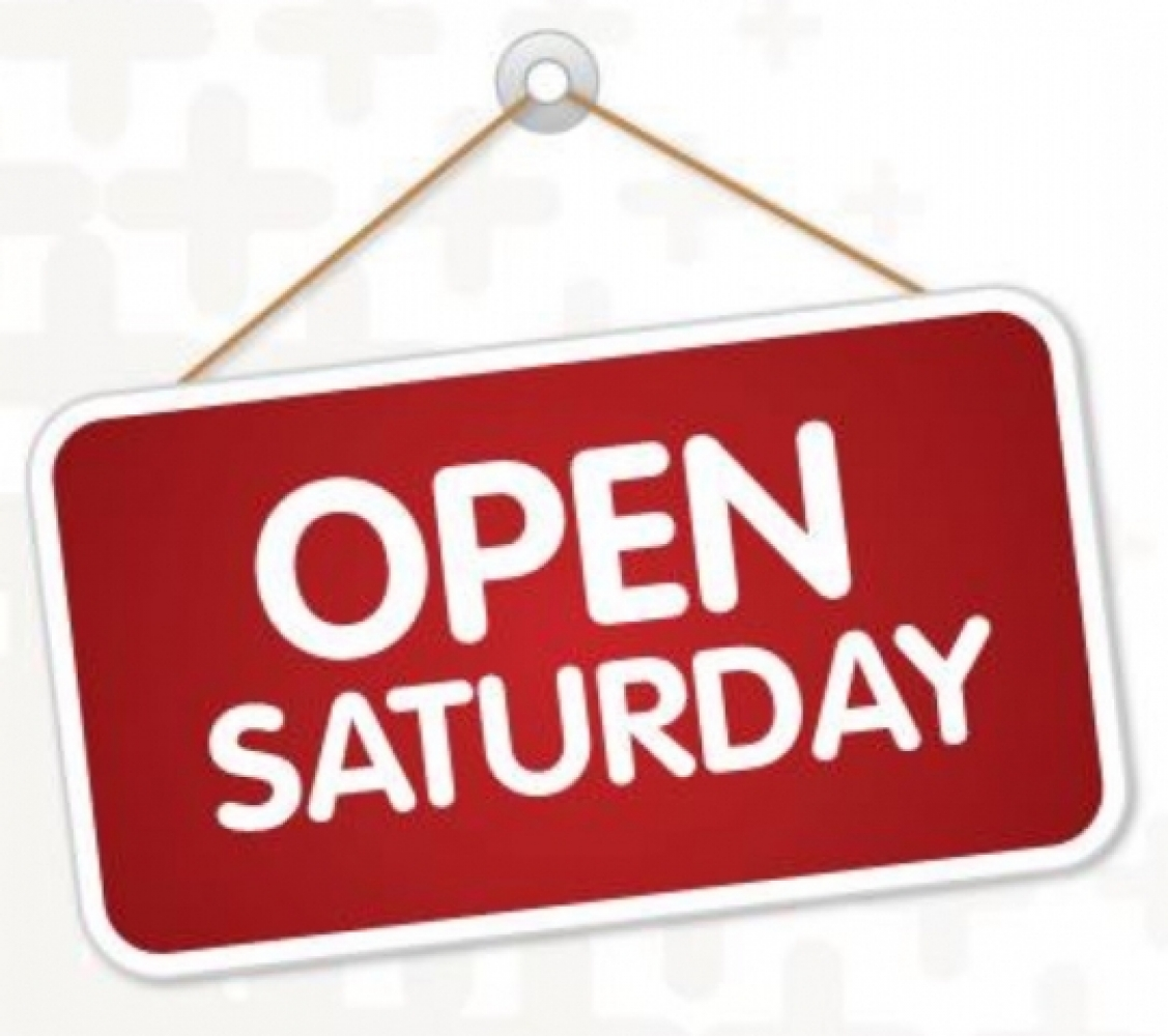 Super Saturdays - we are open